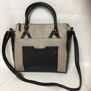 Nine West-Faux Leather Two Toned Tote
